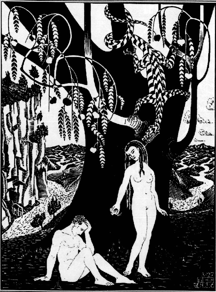 М. Эшер. ПАДЕНИЕ ЧЕЛОВЕКА. 1926